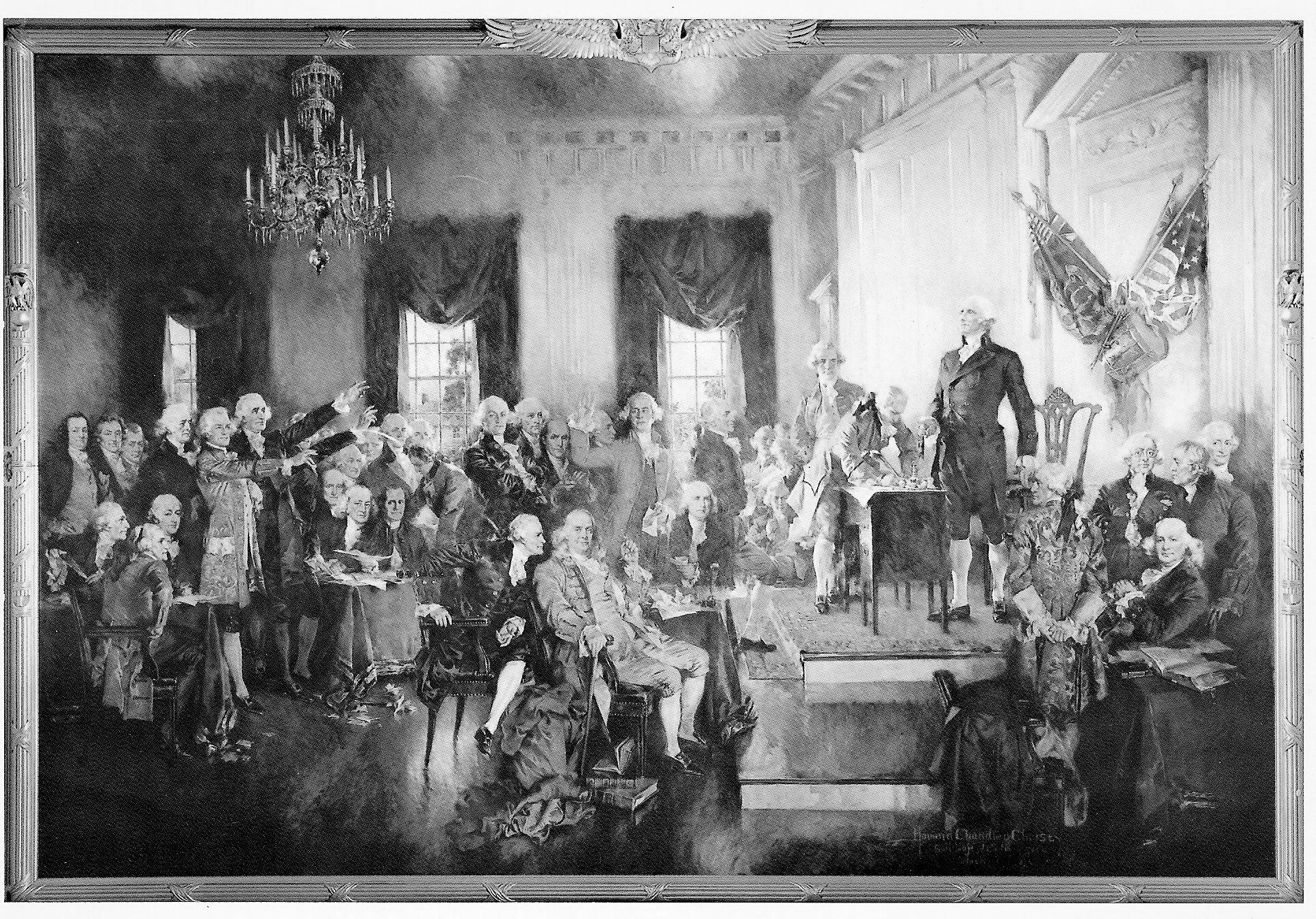 chapter 14 shay s rebellion however helped trigger the constitutional convention in philly see the illustration by howard chandler christy and in 1787